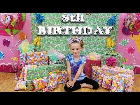 BIRTHDAY PRESENT OPENING | AUDRIANA'S 8TH BIRTHDAY