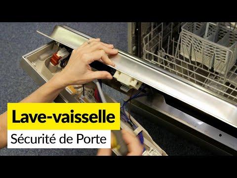 Comment Changer La Poignee Et La Securite De Porte D Un Lave Vaisselle Youtube