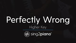 Perfectly Wrong (Higher Key - Piano Karaoke Instrumental) Shawn Mendes