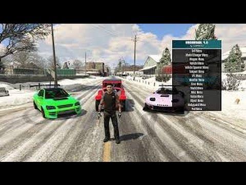Cara Mod Grand Theft Auto V PC/Laptop [Native Trainer+Script Hook]