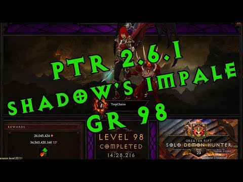 Diablo III PTR 2.6.1 - Demon Hunter Shadow