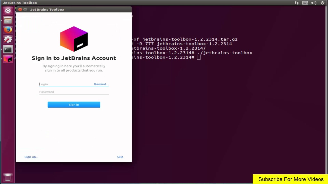 How To install JetBrains Toolbox App on ubuntu 17 zesty zapus