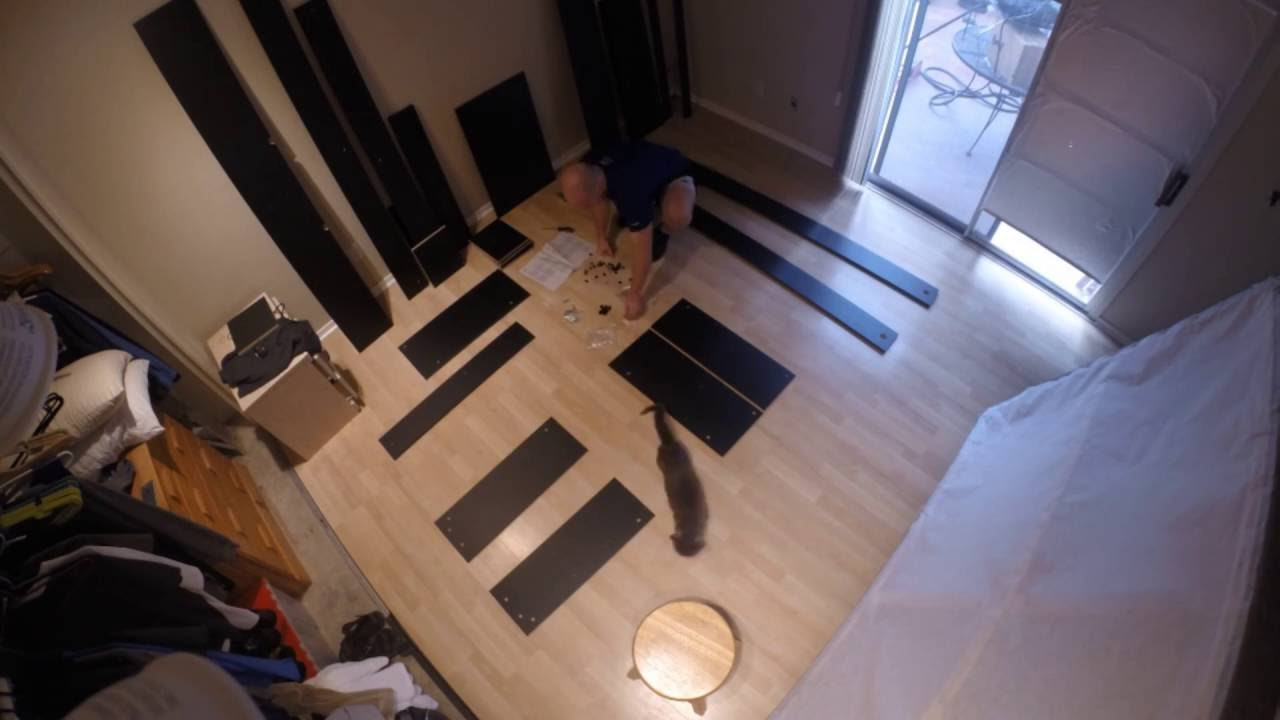 Ikea King Size Brimnes Bed Frame With Storage Headboard Time Lapse
