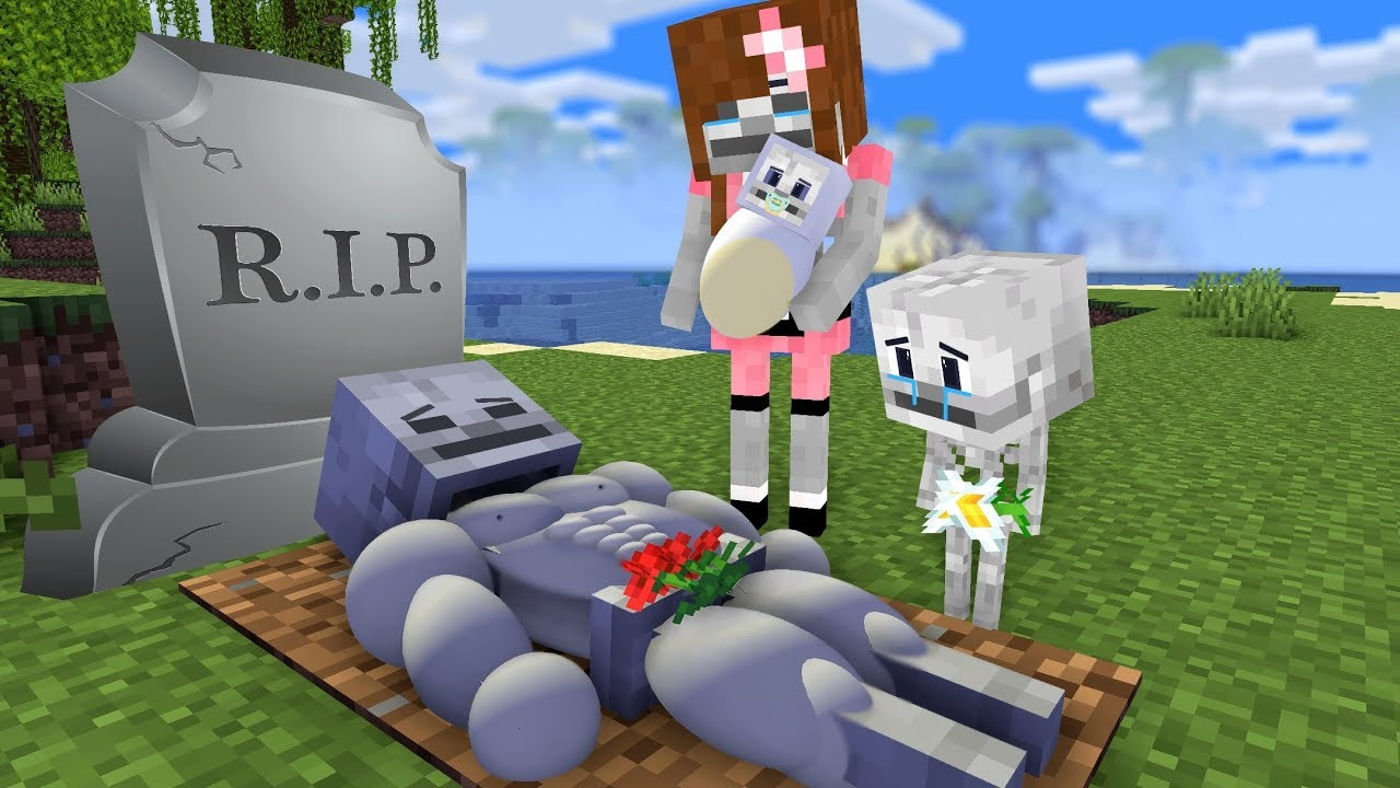 Skeleton Life - Monster School - Sad Minecraft Animation