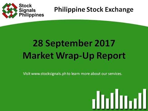 Market Wrap-Up Report - Philippine Stock Exchange - 28 September 2017