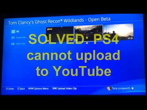SOLVED: PS4 cannot upload to YouTube