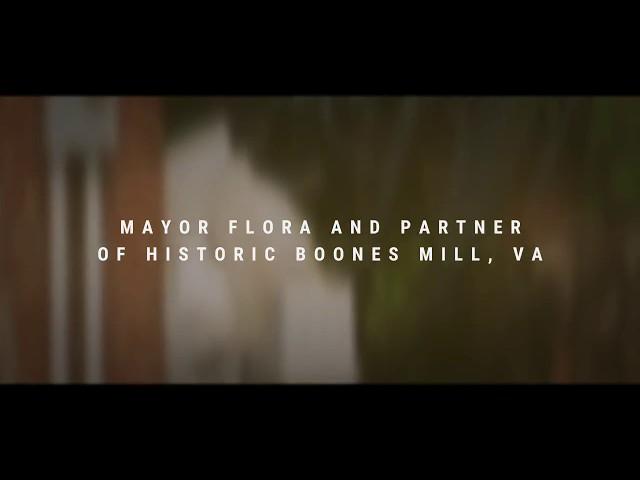 Mayor Flora of the Historic Boones Mill VA