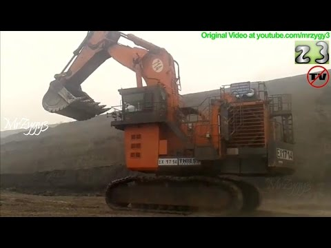 Hitachi EX2600 Excavator Diesel Refueling at Open Pit Mining