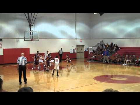 Stafford Middle School - Justin Scores 1st basket of season