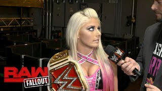 Alexa Bliss claims that Mickie James' time has passed: Raw Fallout, Oct. 2, 2017
