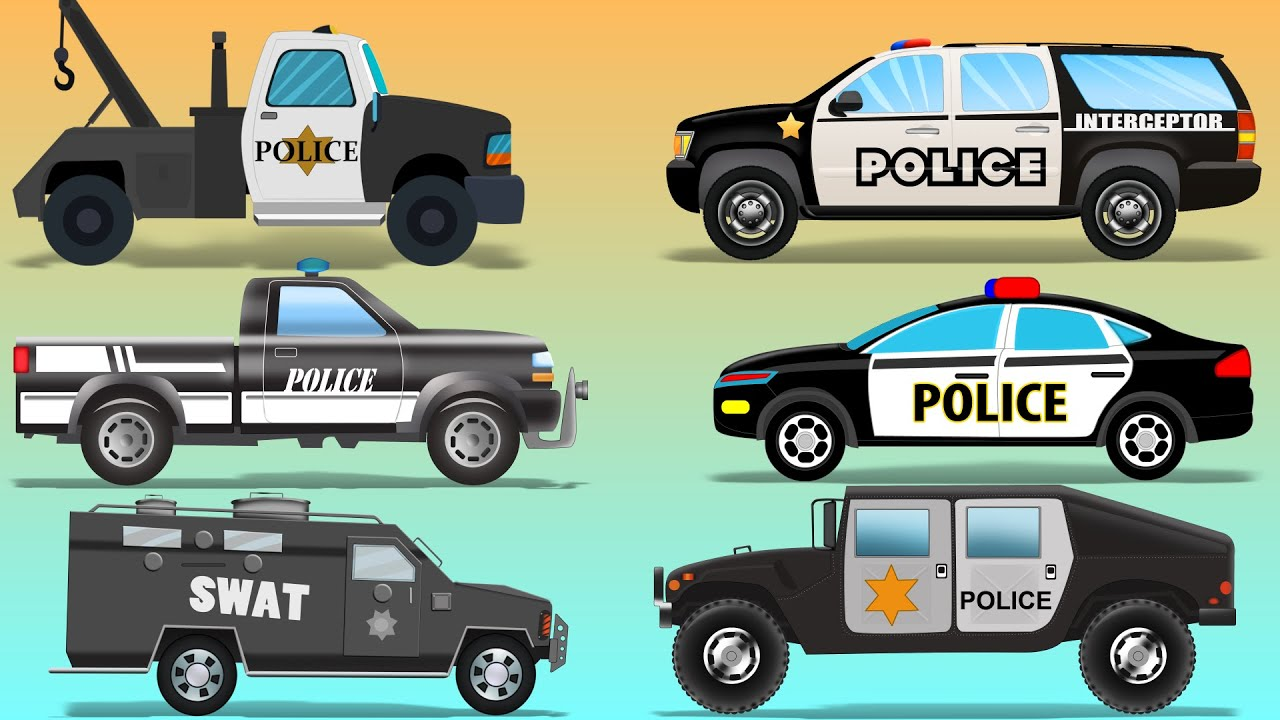 police vehicles kids police cars police utility vehicles youtube