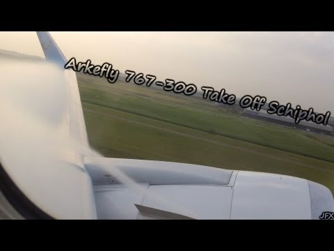 ARKEFLY 767 - AWESOME VORTEX DURING TAKE OFF!
