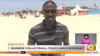 Women volleyball team unstoppable at the Africa beach games