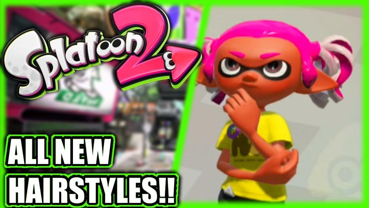 Splatoon 2 All New Hairstyles Youtube