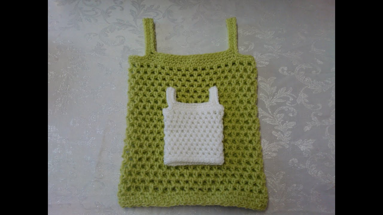 Easy Crochet Baby Vest Pattern : How to crochet my petite baby string vest tutorial part 1 ...