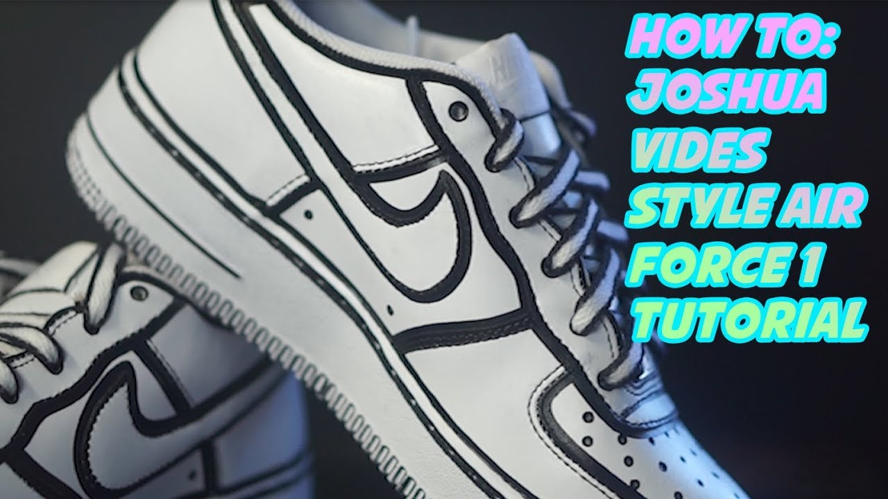 How To: Joshua Vides Cartoon Air Force 1 Tutorial