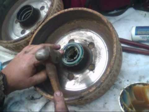 Tapered Wheel Bearing Changeover   - Truck -- Car -- Utility Trailor -- SAME SERVICE  .wmv