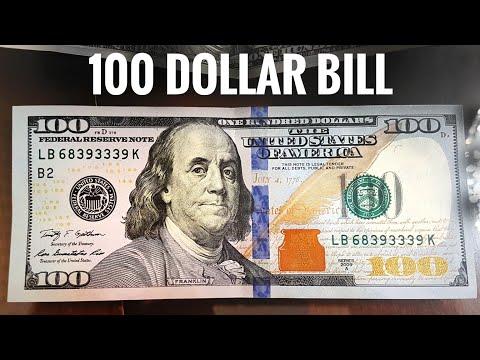 New $100 Dollars Bill USA - United States one hundred-dollar