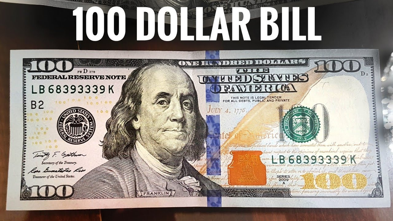 New 100 Dollars Bill Usa United States One Hundred Dollar Note Comparison