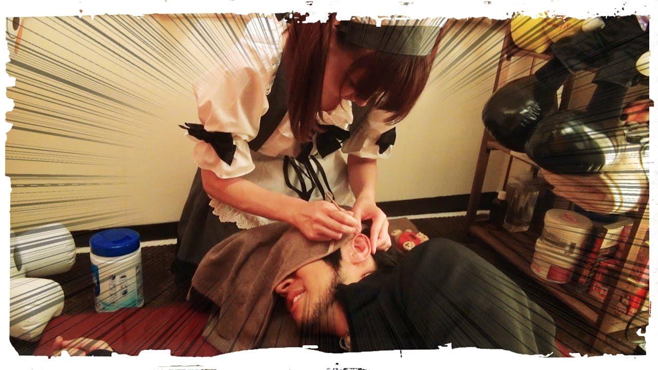Limpando o OUVIDO com MAIDS LOLITAS no Japão!