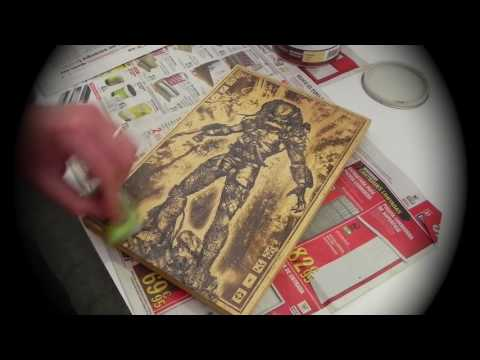 How is Made: Predator Art on Wood by Engraver's Dungeon