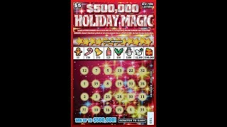 $5 - 500k HOLIDAY MAGIC -  NEW - WIN! Lottery Bengal Scratch Off tickets  NEW TICKET TUESDAY WIN!!