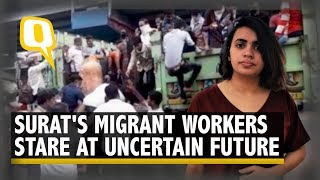 No Food or Wages: How Surat's Migrant Workers Are Surviving the Lockdown | The Quint