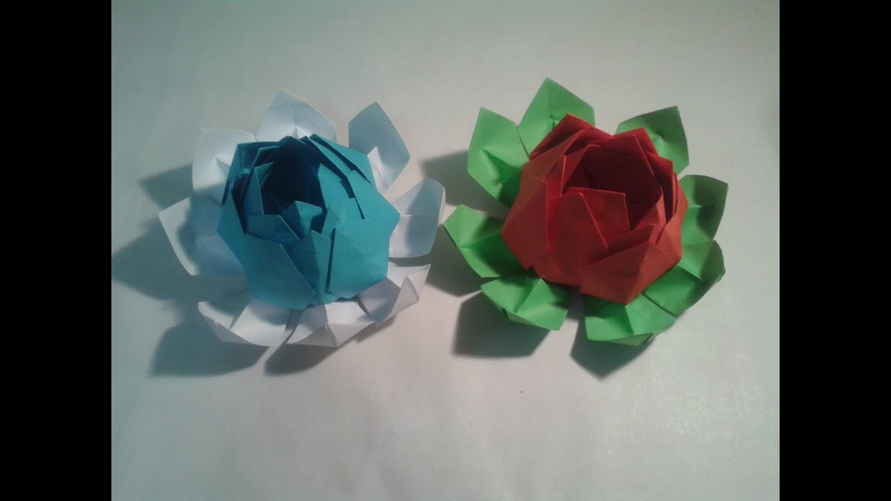 How Make A Origami Flower