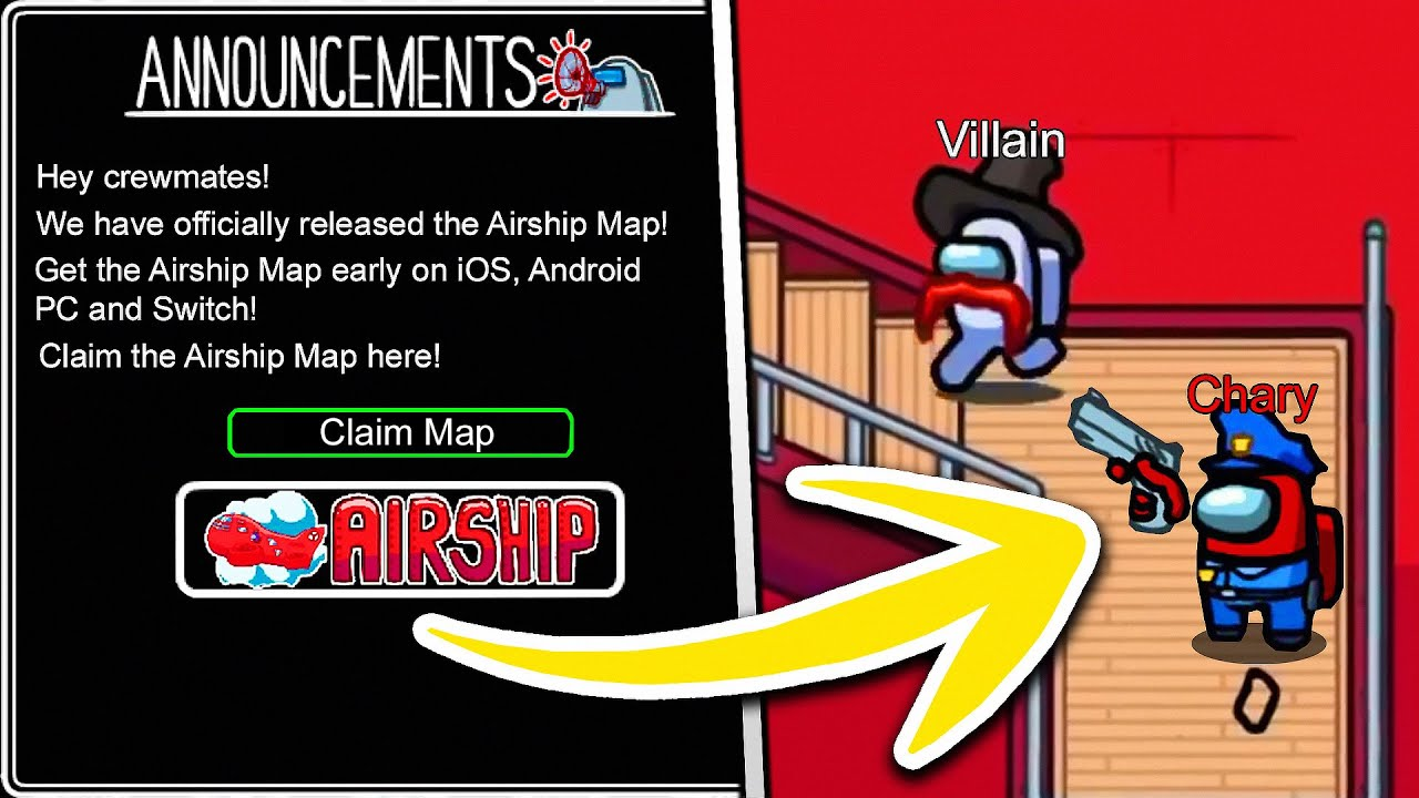 How To Play Airship Map In Among Us 2021 Ios Android Pc Youtube