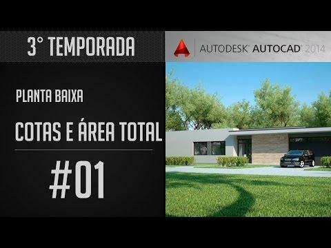 AutoCAD 2014 - Cotas e Área