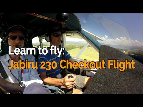 LEARN TO FLY | Jabiru J230 Check Flight | Crosswind Circuits | Audio