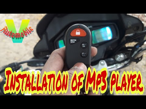 Installation of Mp3 player in bike