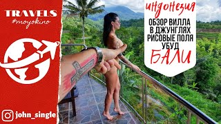 Бали 2020 Обзор недорогой красивой виллы в джунглях Рисовые поля Убуд отель гостиница