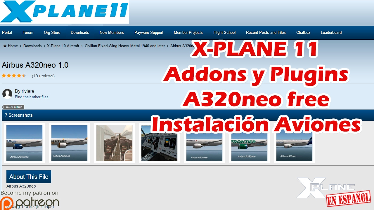 A320neo x plane Plugin