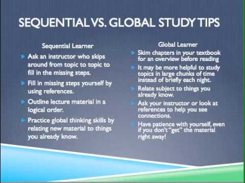Sequential and Global Learners iSECURE
