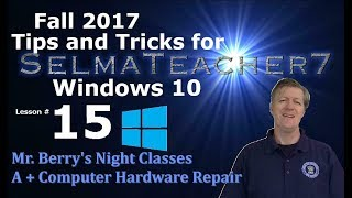 Windows 10 Tips and Tricks- Lesson 15 for the A+ CompTIA -  - Godmode - Part 1