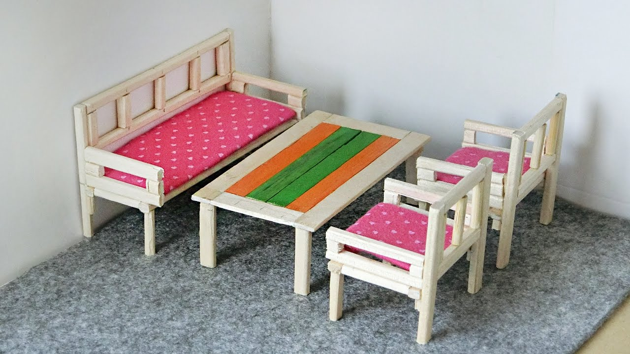 how to build miniature furniture. DIY Miniature Furniture From Chopsticks | Table \u0026 Sofa For Dollhouse How To Build O