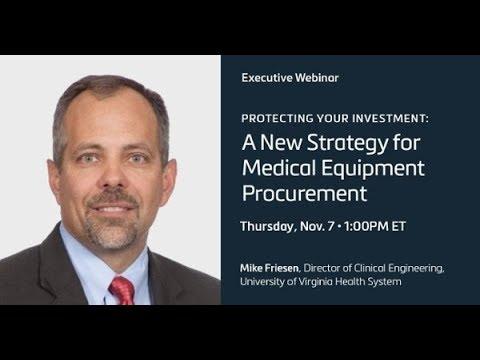 UVA Webinar: A New Strategy For Medical Equipment Procurement