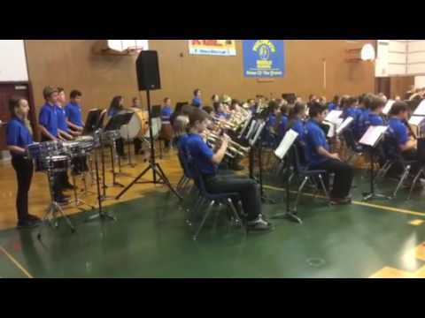 Philomath Middle School band at Veterans Day assembly 2016