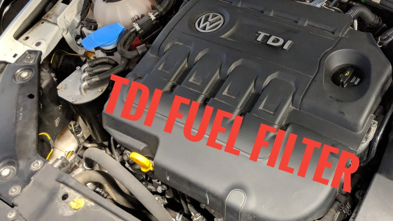 volkswagen jetta tdi mk6 2011 2017 fuel filter how to installation [ 1280 x 720 Pixel ]