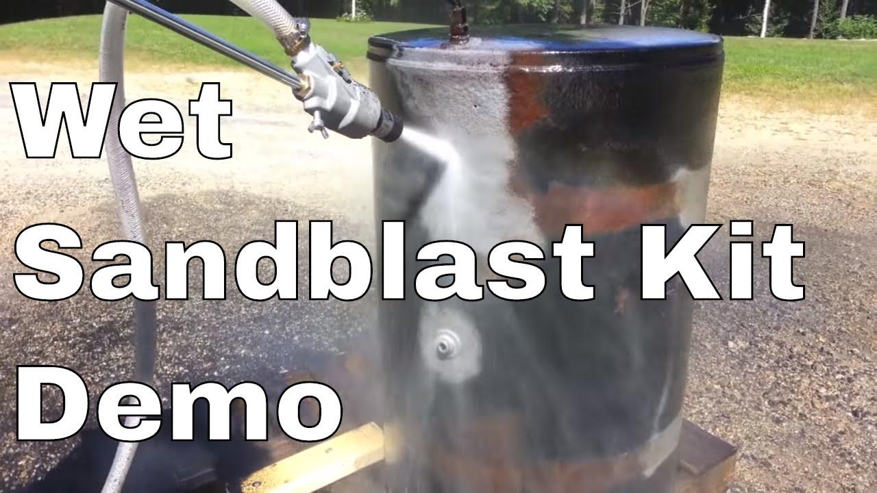 Power Eagle Wet Sand Blast Kit Youtube