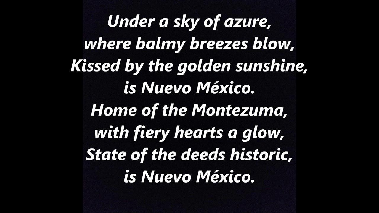 o fair new mexico official state anthem hymn lyrics words best top popular favorite sing along. Black Bedroom Furniture Sets. Home Design Ideas