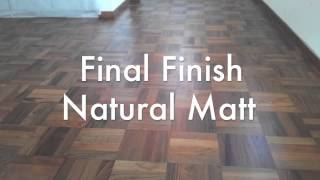 Clementi Park 20yrs Parquet Floor Conditions Before & After Refurbished