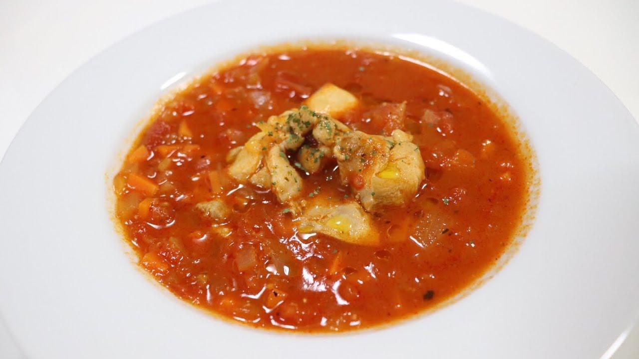 スープ トマト チキン