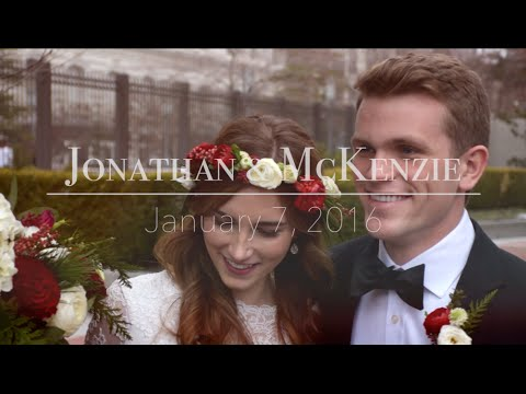 Salt Lake Temple Wedding | Jonathan and McKenzie | LDS Wedding Video