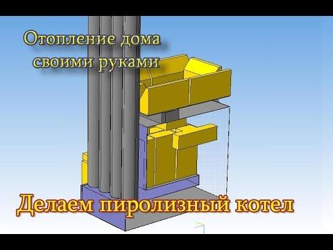 Пиролизный котел 15-25 кВт.