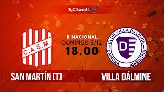 San Martin de Tucuman vs Villa Dálmine full match