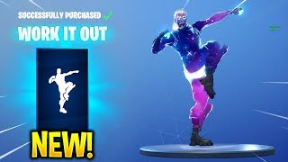 *NEW* FORTNITE WORK IT OUT EMOTE WITH GALAXY SKIN + OTHER SKINS!