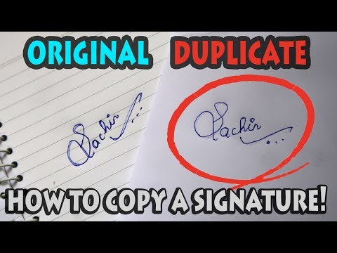 How To Copy A Signature!