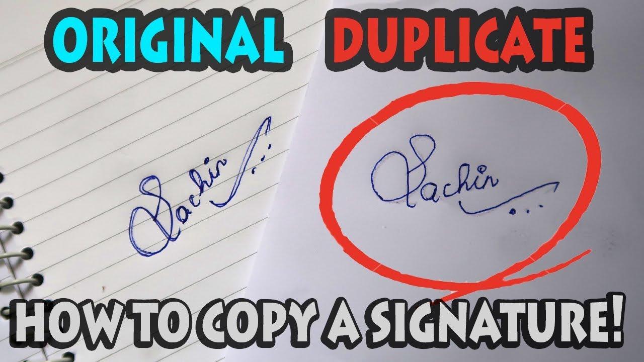 How to copy a signature!